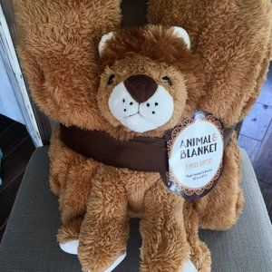 NWT - Sherpa Plush Stuffed Animal and Blanket